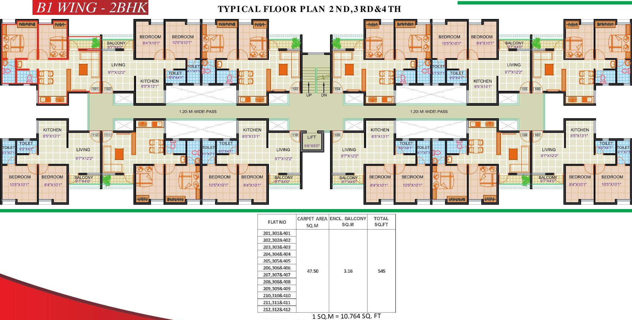 349 sq ft 1 bhk 1t apartment for sale in maple aapla ghar for Ghar plans design