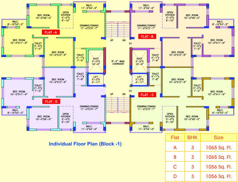 Images for Cluster Plan of Balajee Apartment
