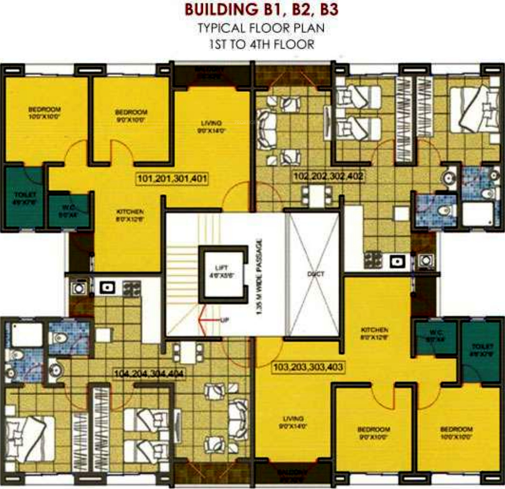 378 sq ft 1 bhk 1t apartment for sale in shubban realtors for Floor plans for realtors