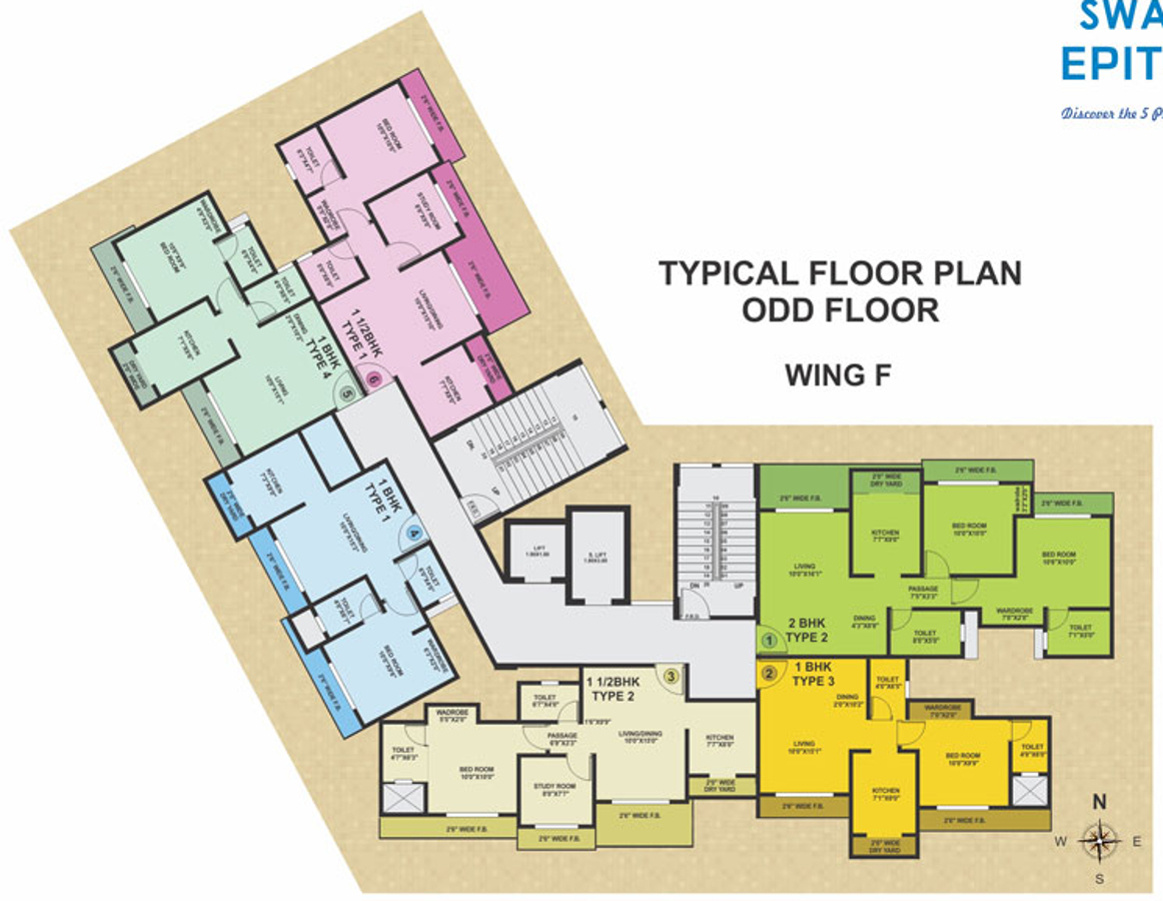 409 sq ft 1 bhk 1t apartment for sale in swastik group for 1 bhk flat floor plan