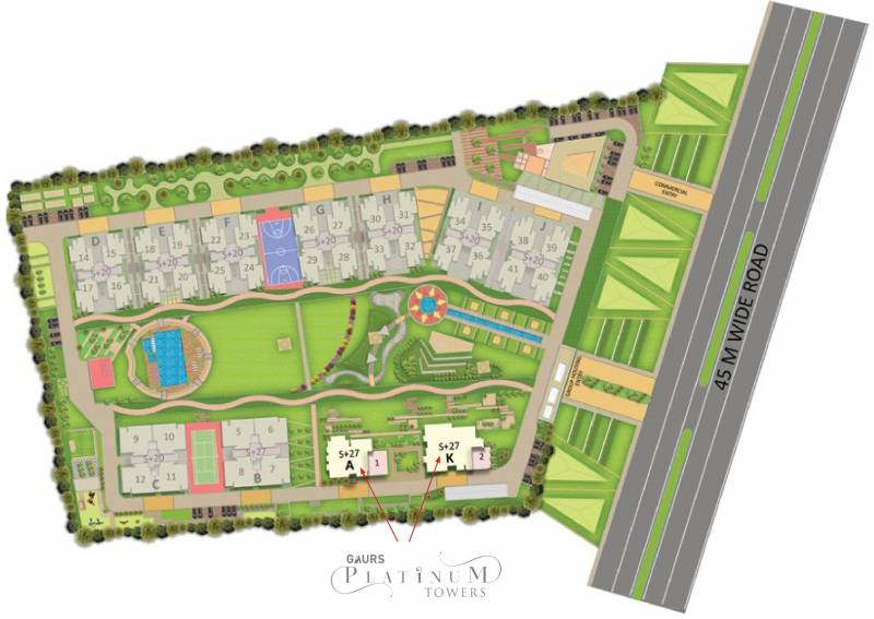 Images for Layout Plan of Gaursons Gaurs Platinum Towers
