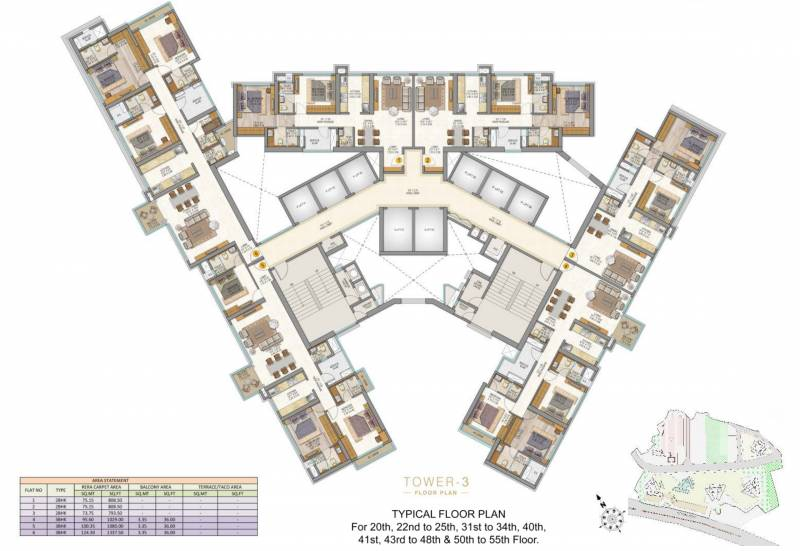 Images for Cluster Plan of Sheth Auris Serenity Tower 3
