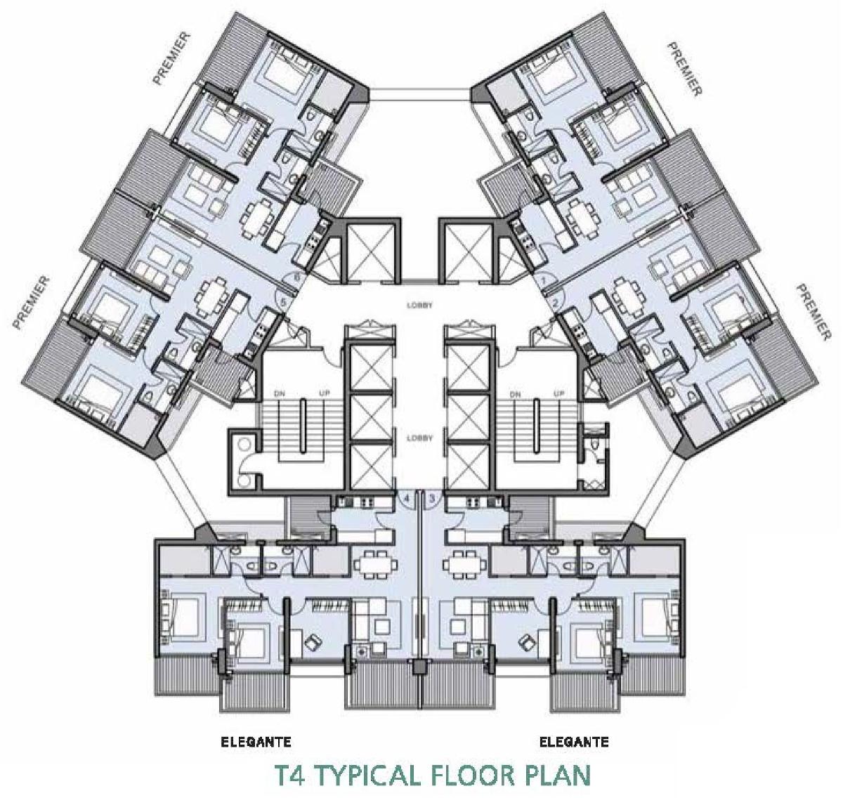 L t crescent bay t4 in parel mumbai price location map for 1077 marinaside crescent floor plan