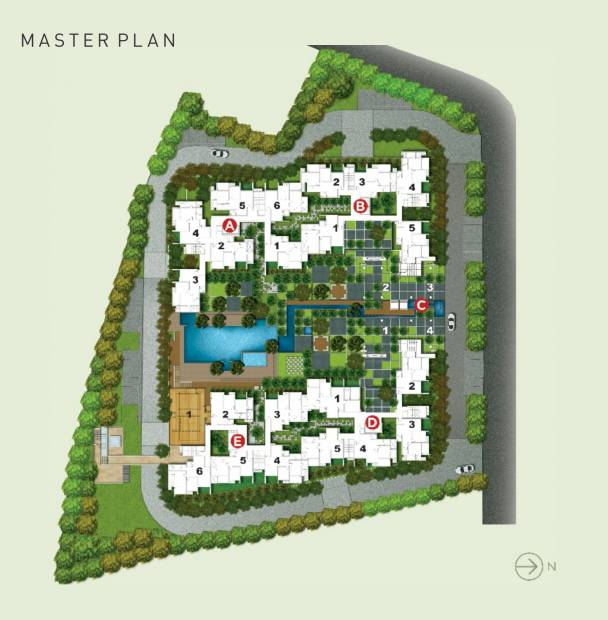 Images for Master Plan of Rohan Rohan Madhuban II Wings A B C