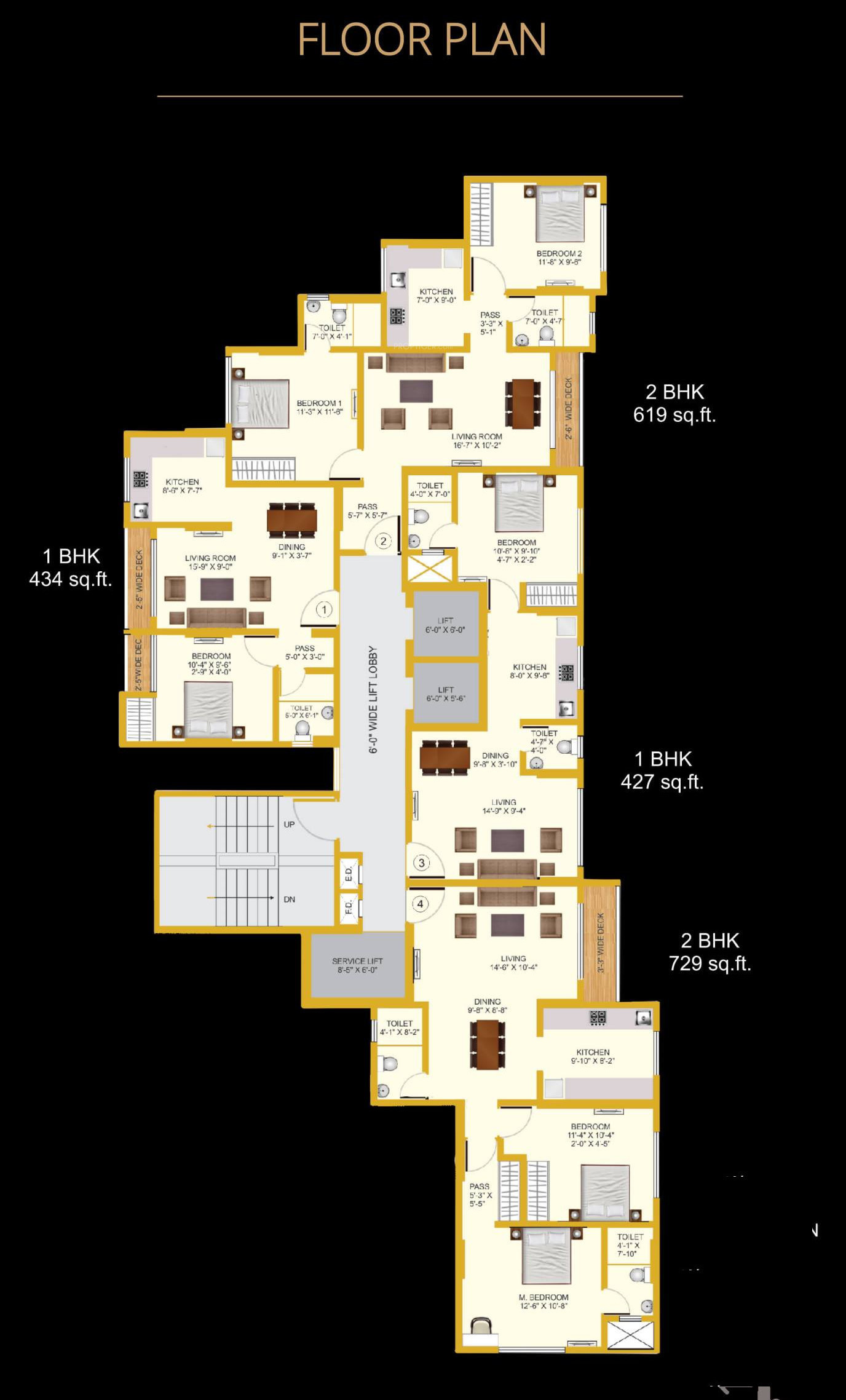 436 sq ft 1 bhk 1t apartment for sale in moss realtors pvt for Floor plans for realtors