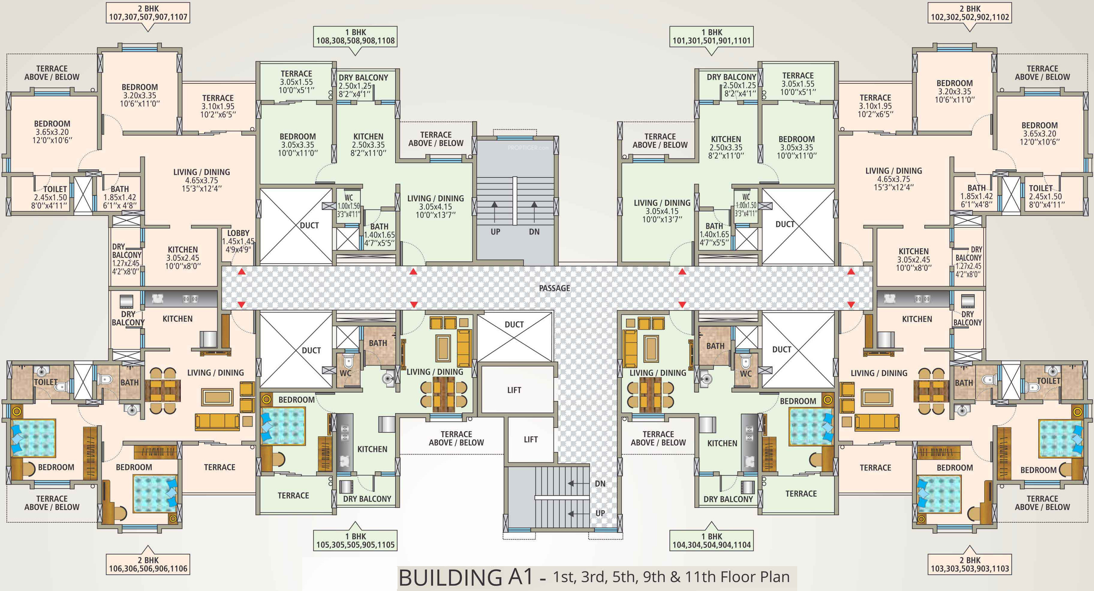 380 sq ft 1 bhk 1t apartment for sale in for 380 square feet floor plan