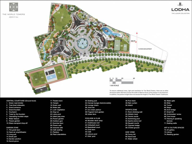 Images for Master Plan of Lodha The World Towers World One Tier III And Trinity
