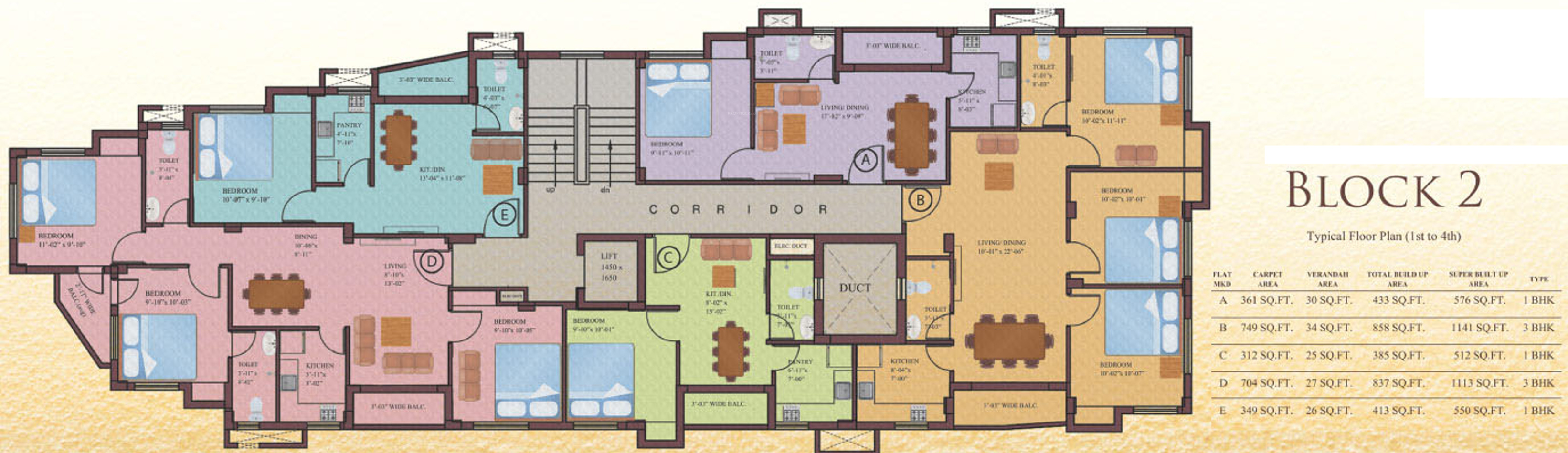 512 sq ft 1 bhk 1t apartment for sale in eden group for 512 plan