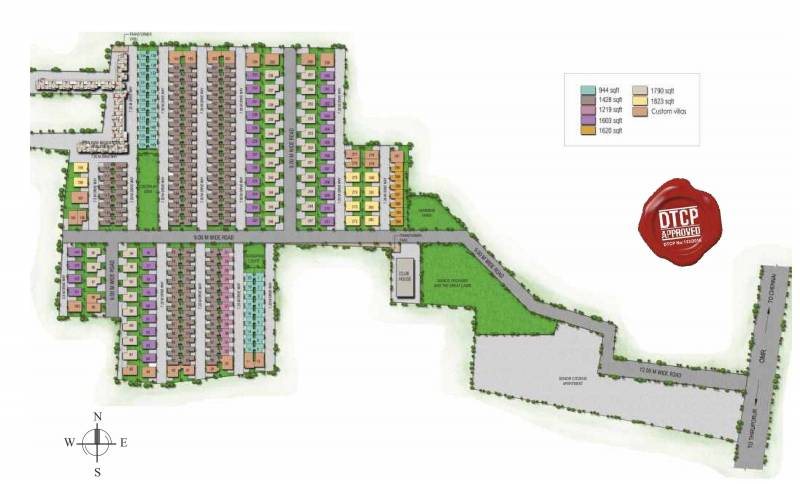 Images for Layout Plan of Alliance Humming Gardens Villas