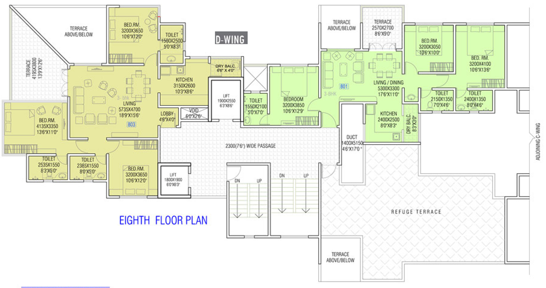 645 sq ft 2 bhk 2t apartment for sale in oxford infra for Oxford floor plan
