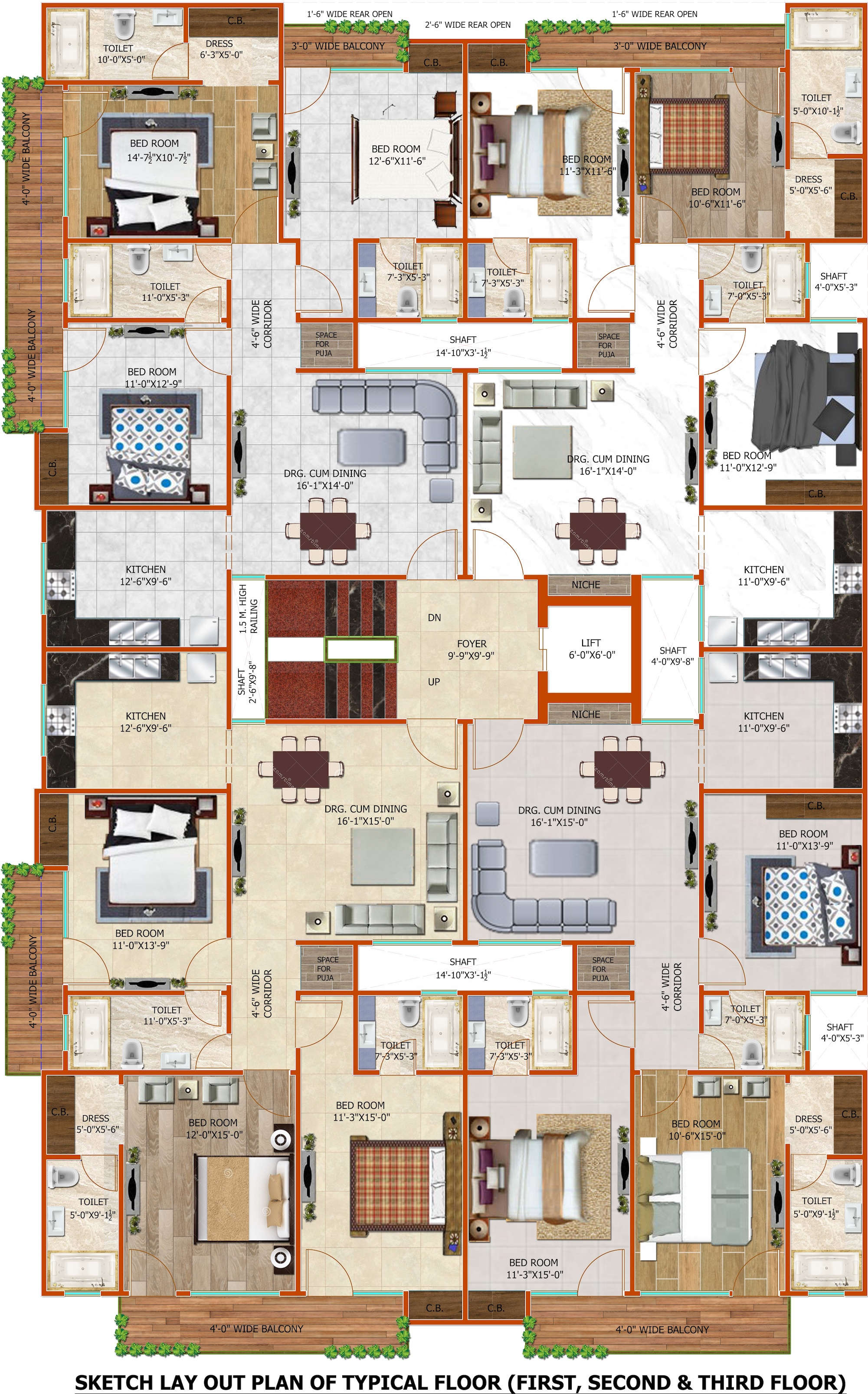 1125 sq ft 2 bhk 2t apartment for sale in cs realty for 1125 sq ft floor plan