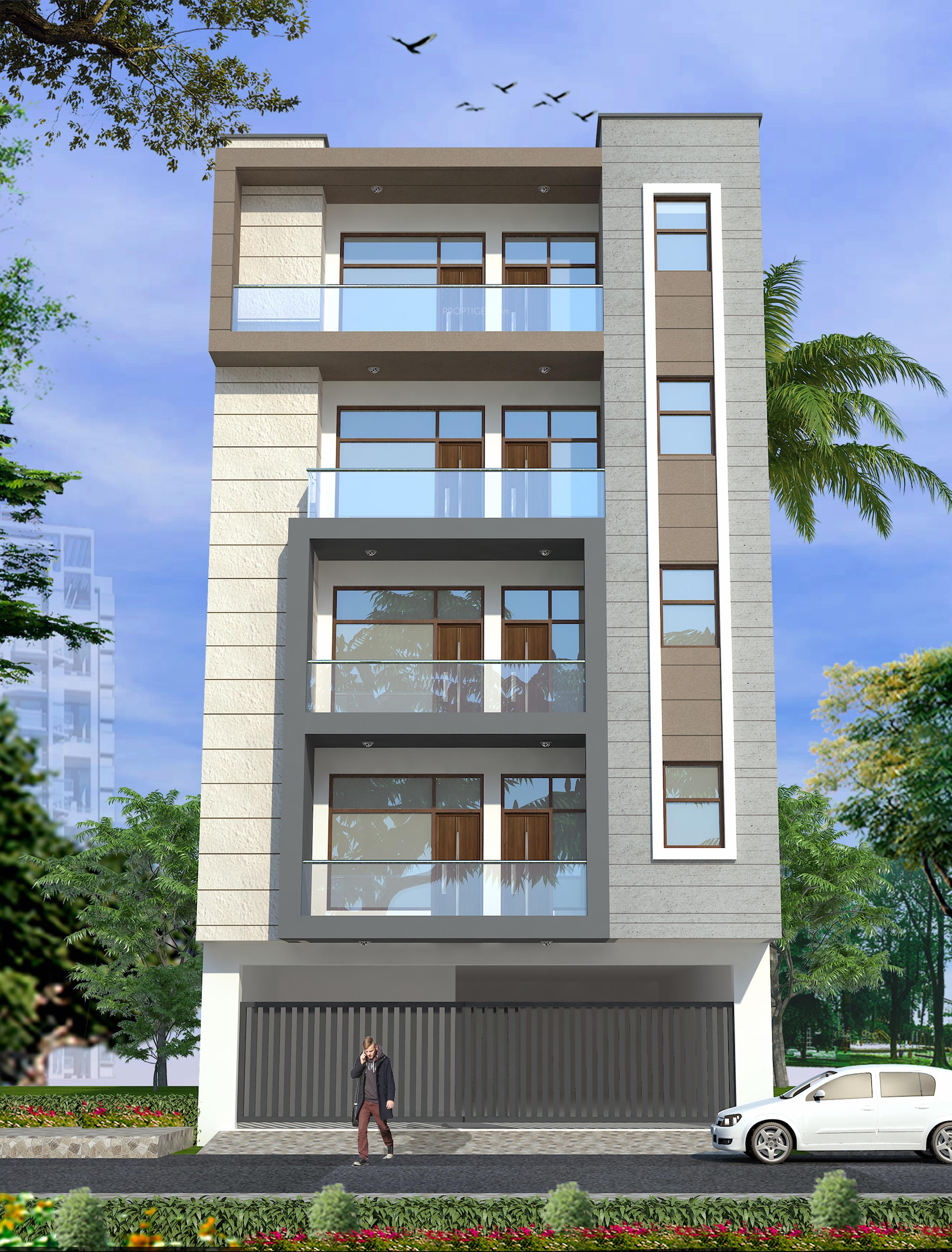 Home Design Ideas Elevation: CS Aravali Tower In Mandi, Delhi