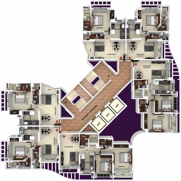Images for Cluster Plan of Ajmera New Era Yogidham Phase IV Tower C