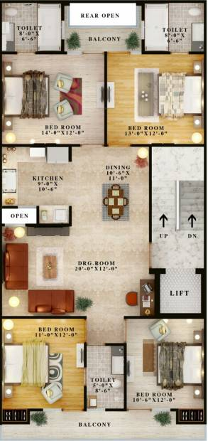 Images for Cluster Plan of AGR Creative Homz