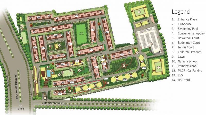 Images for Master Plan of Emaar Palm Premier