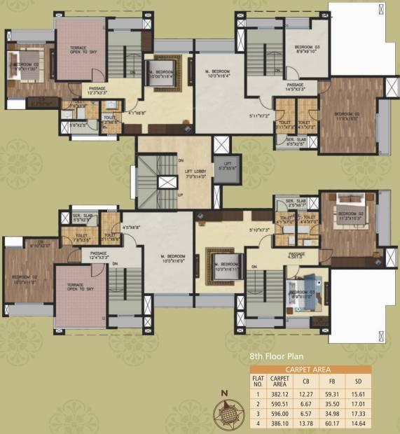 Images for Cluster Plan of JVM Garden Court