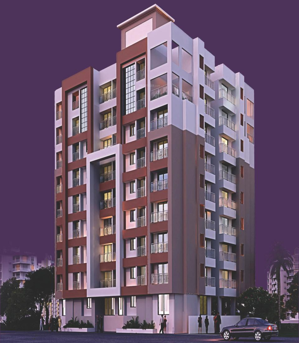 949 Sq Ft 2 BHK 2T Apartment For Sale In JVM Spaces Garden