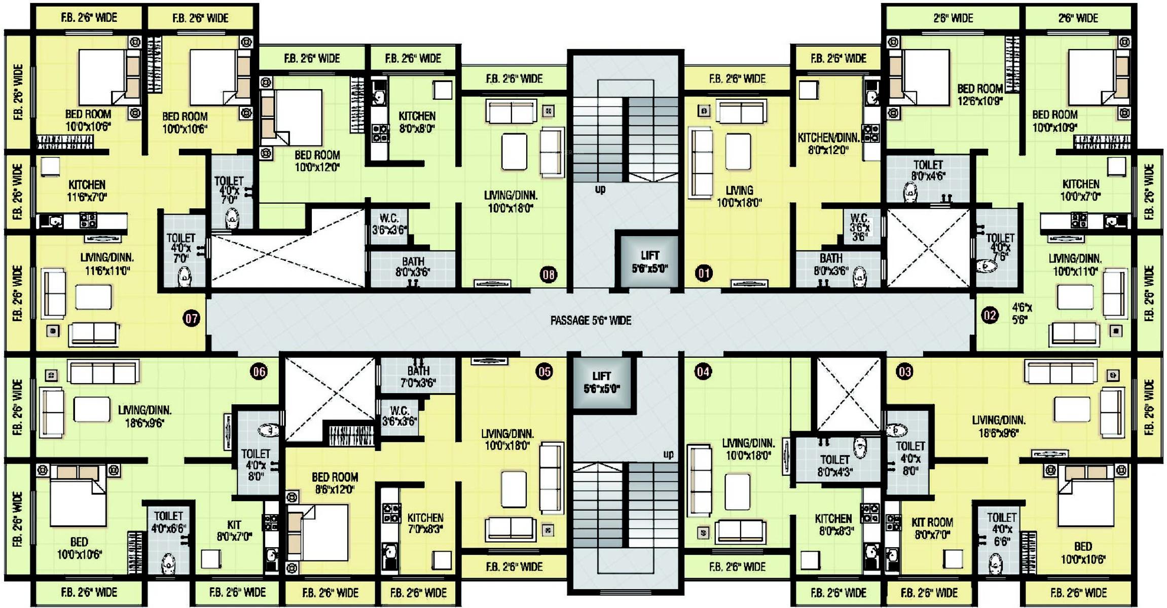 Shri parrsssva classic apartment in bhiwandi mumbai for Apartment cluster plans