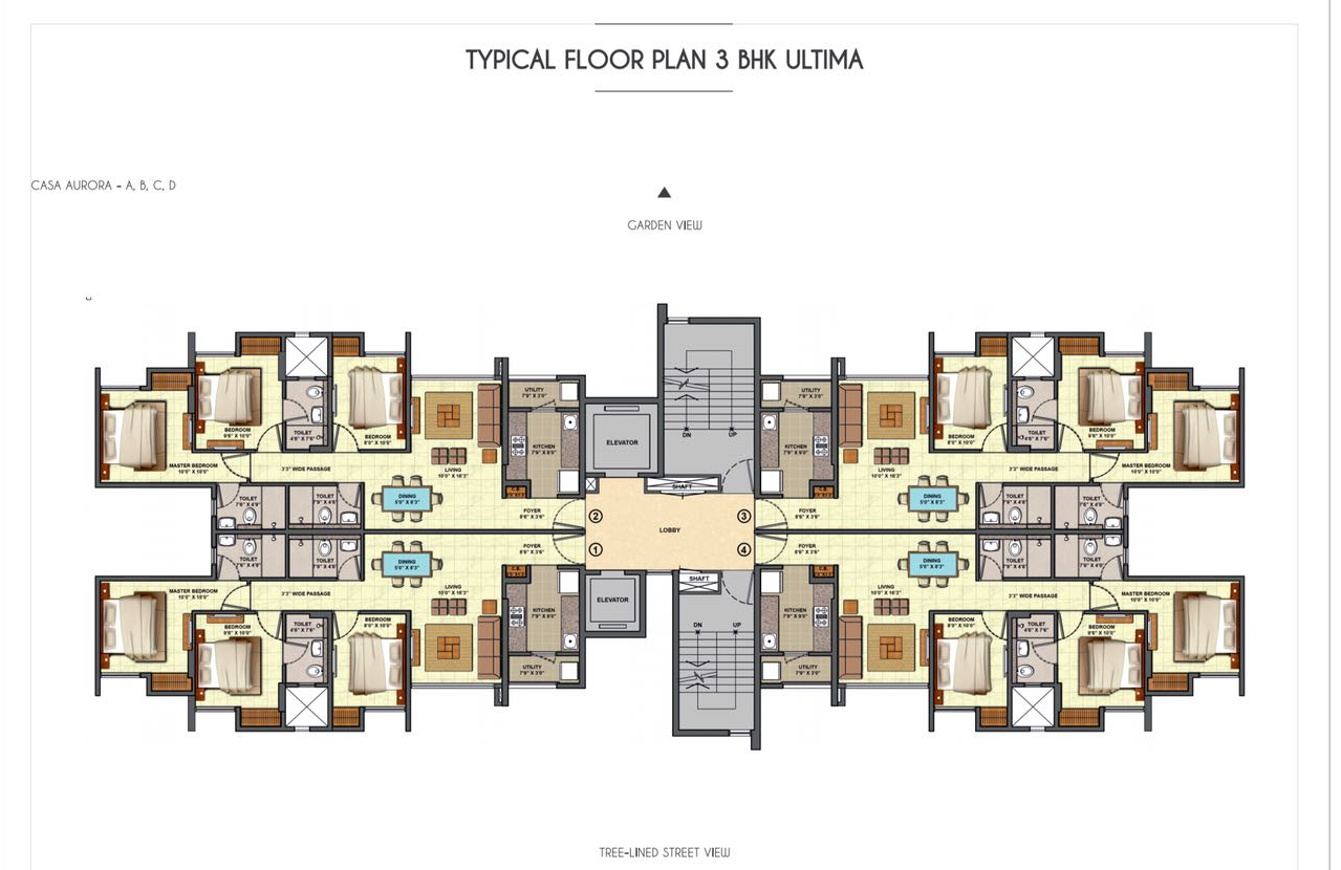 441 sq ft 1 bhk 1t apartment for sale in lodha group for Bhk laminate flooring