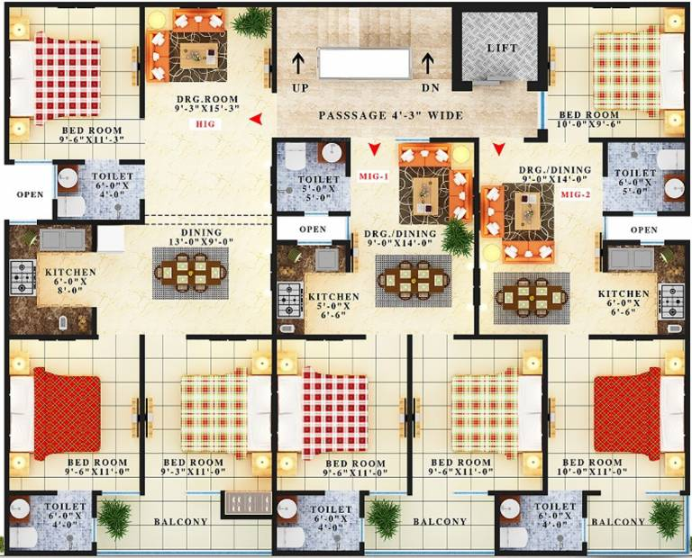 Images for Cluster Plan of Maan Rishi Apartment
