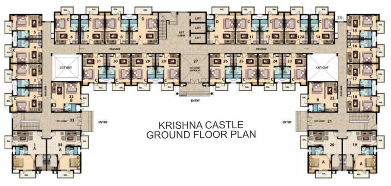 Images for Cluster Plan of Omaxe Krishna Castle