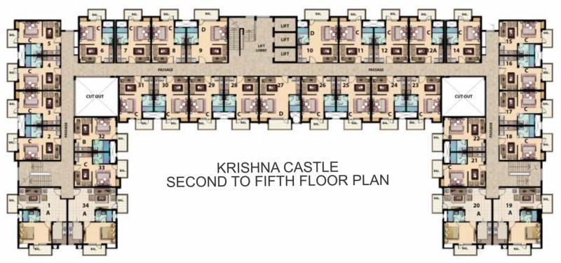 Images for Cluster Plan of Omaxe Krishna Castle