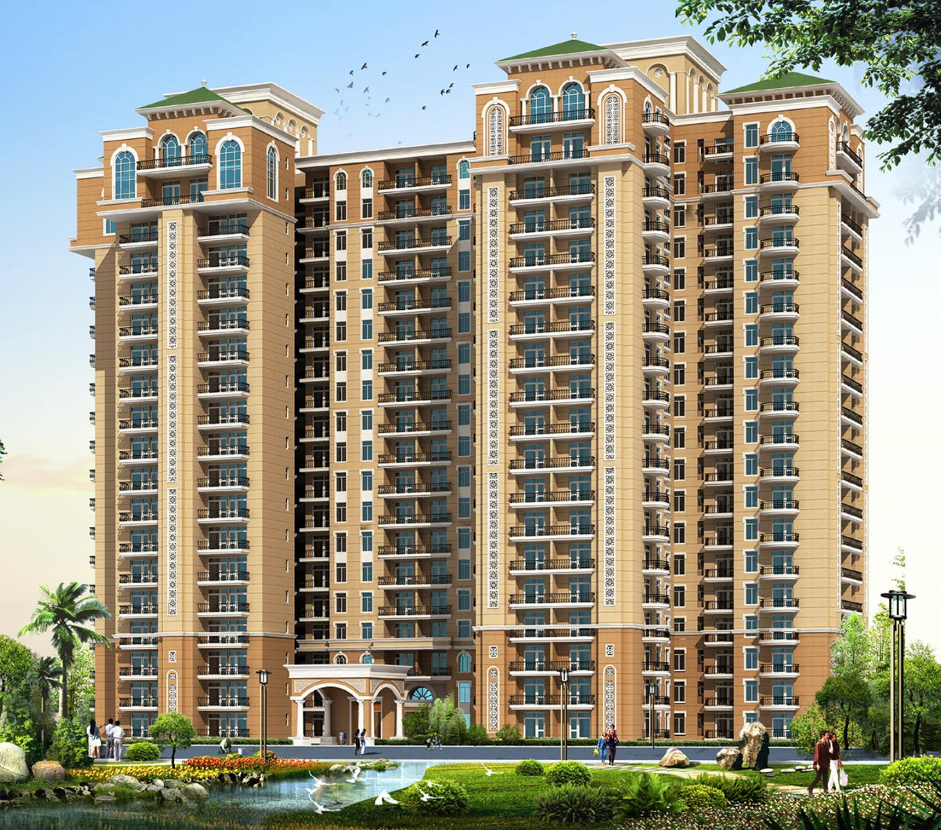 Homefront Tower Elevation : Sq ft bhk t apartment for sale in omaxe twin tower