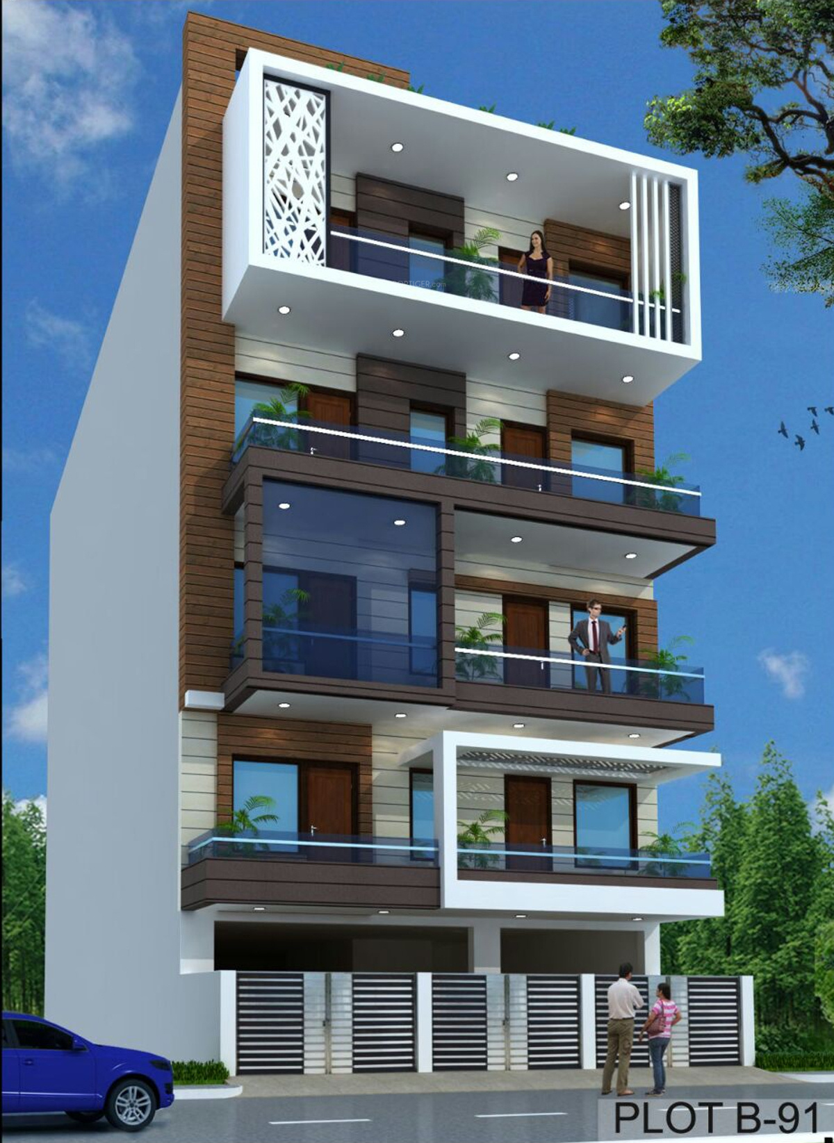 Home Design Ideas Elevation: 1800 Sq Ft 4 BHK 4T Apartment For Sale In Aggarwal Estate