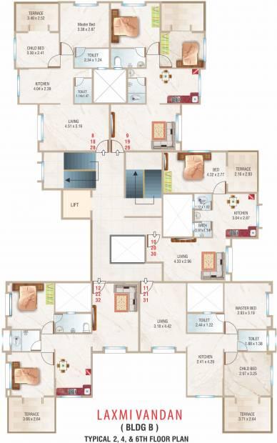 Images for Cluster Plan of Rishi Laxmi Vandan Apartment