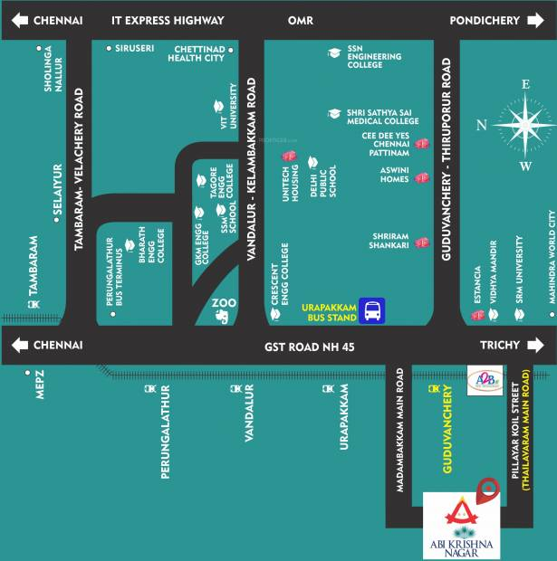 Images for Location Plan of Amazze Abi Krishna Villas