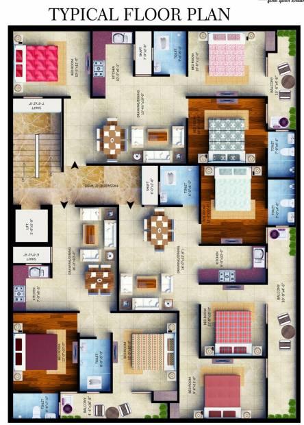 Images for Cluster Plan of Belpatram Gold Tower