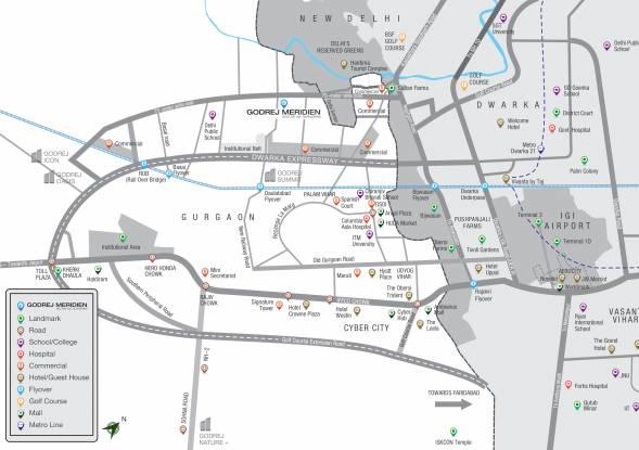 Images for Location Plan of Godrej Meridien