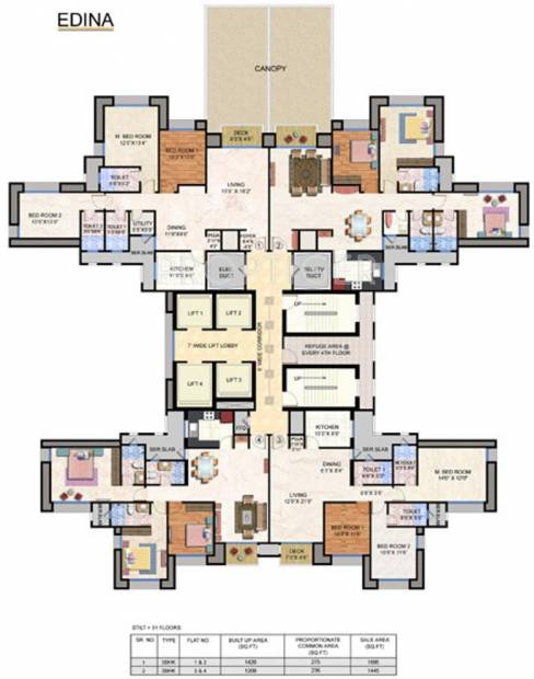 Images for Cluster Plan of Hiranandani House of Hiranandani Egattur