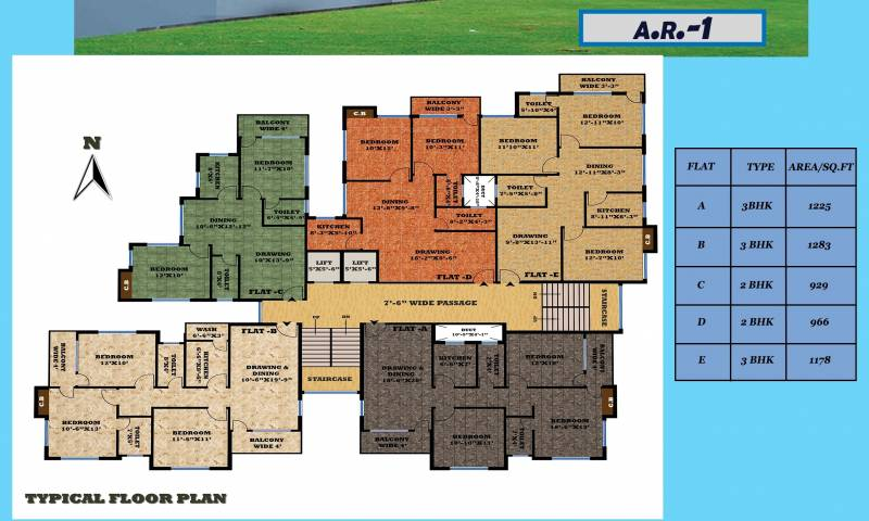 Images for Cluster Plan of Unique Ashiyana Residency