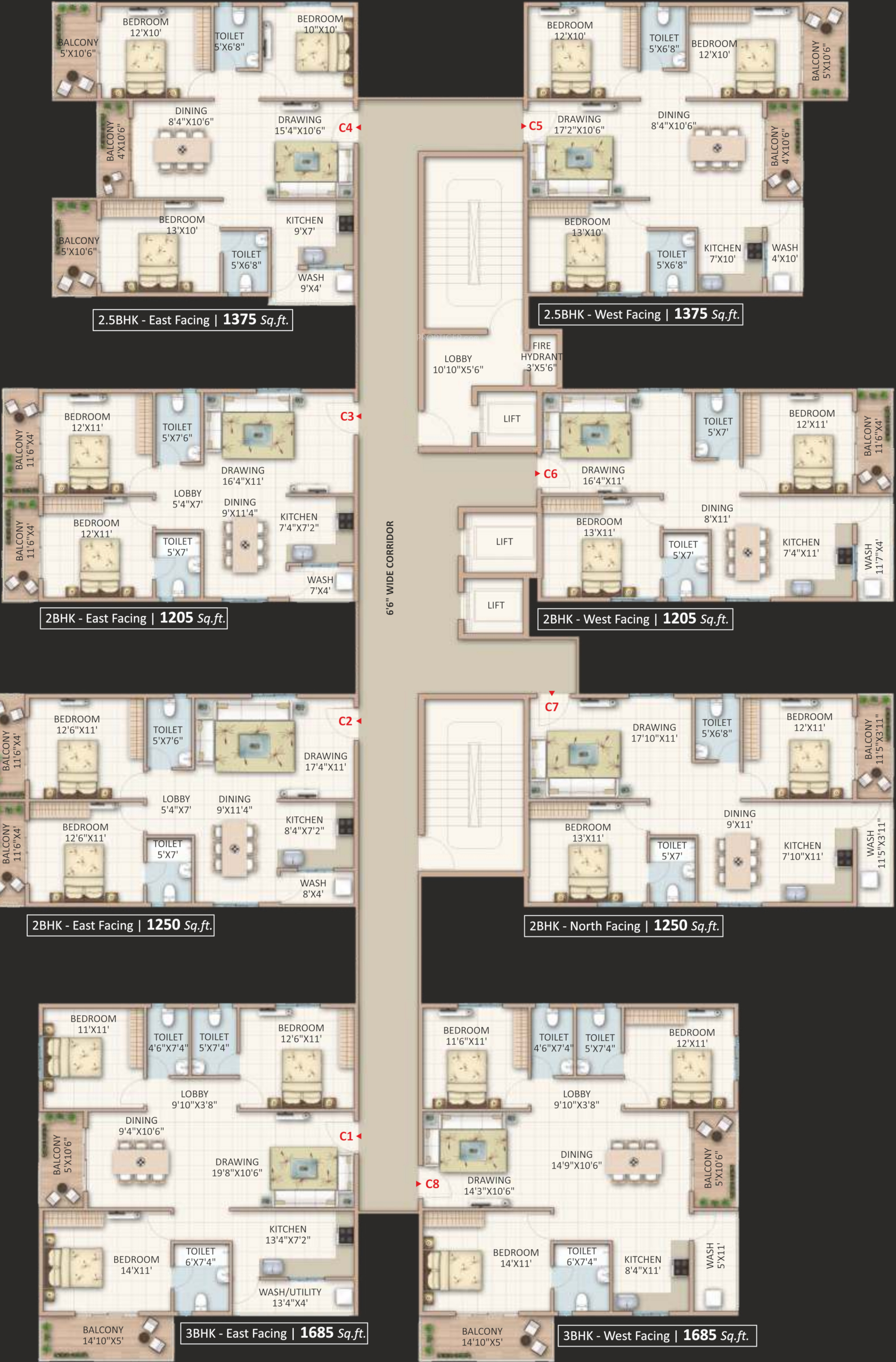 1665 Sq Ft 3 Bhk 3t Apartment For Sale In Candeur Landmark Varthur Bangalore