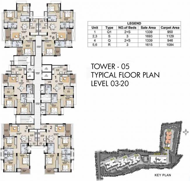 Images for Cluster Plan of Prestige Misty Waters Vista Tower