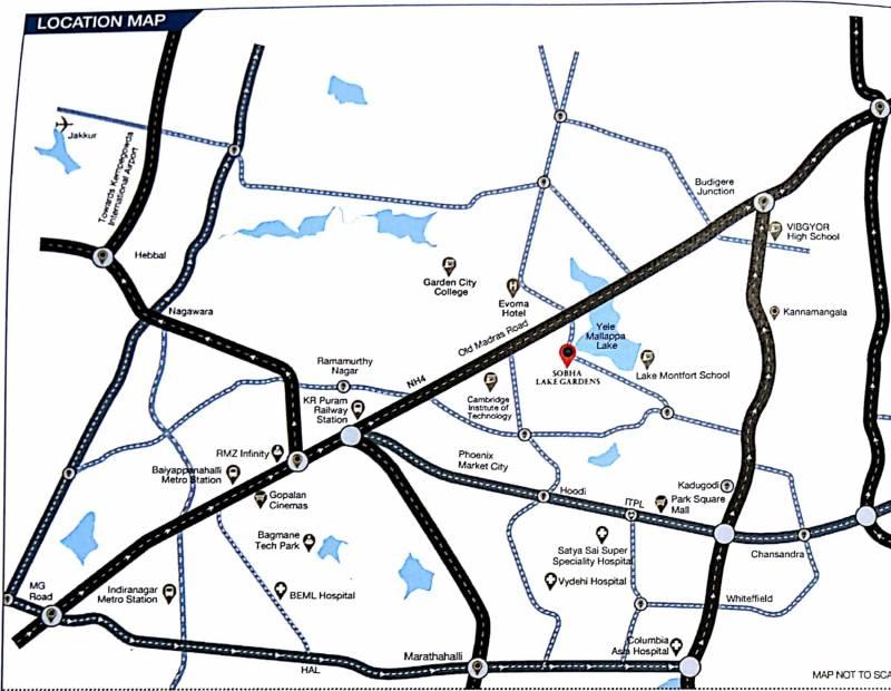 Images for Location Plan of Sobha Lake Garden