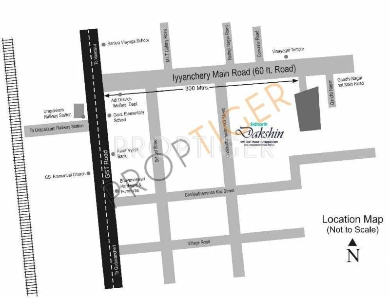 Images for Location Plan of Sidharth Foundations And Housing Dakshin