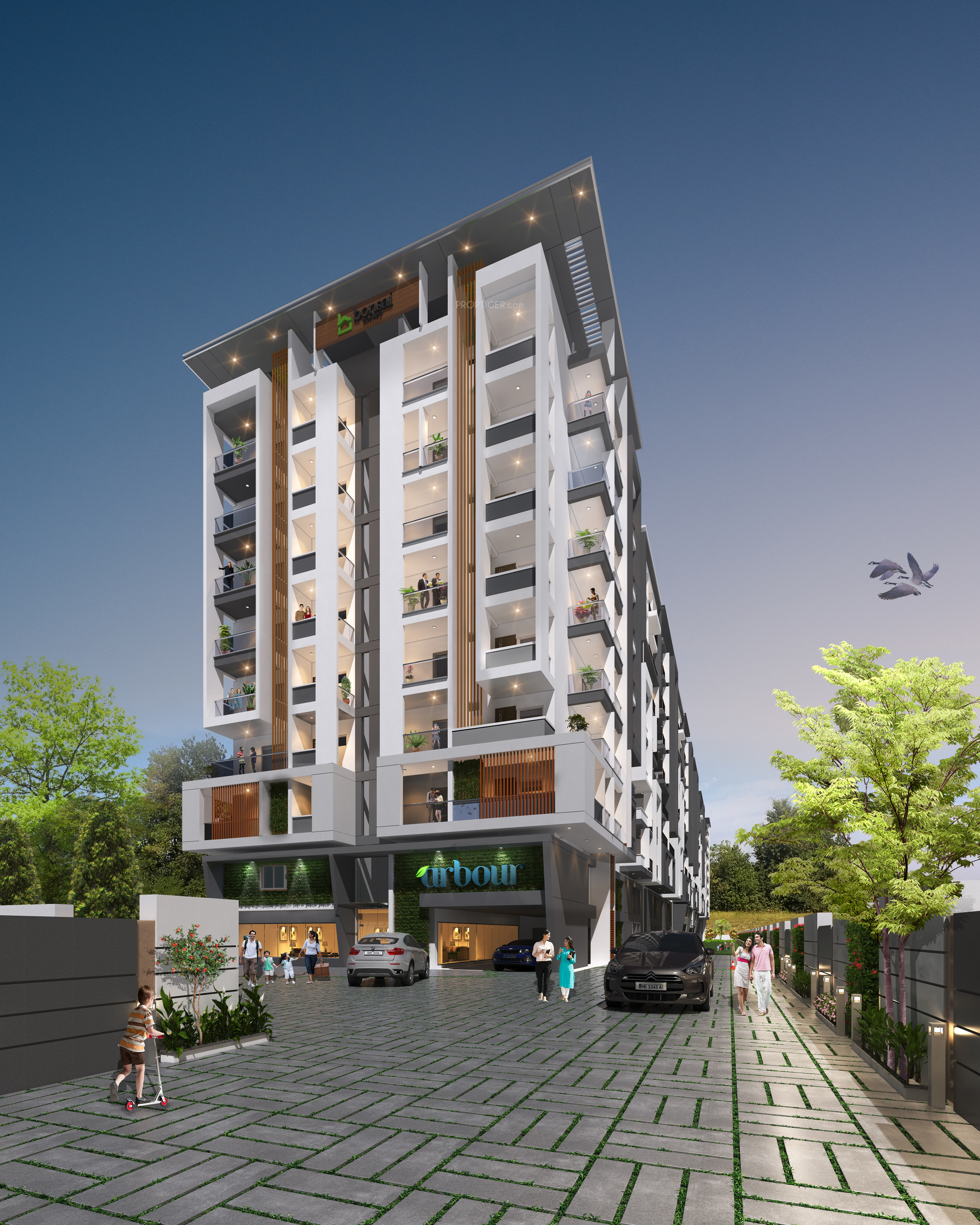 Bedroom Designs From Professionals In Hyderabad  C2NyYXBlLTEtRHBWSGVH: 1236 Sq Ft 2 BHK 2T Apartment For Sale In Bonsai Housing