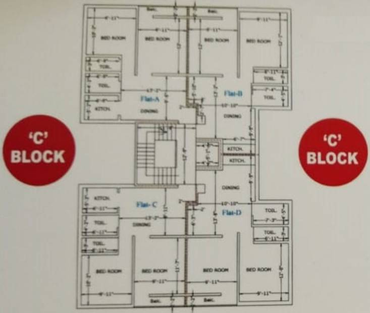 Images for Cluster Plan of Mona Indira Apartment
