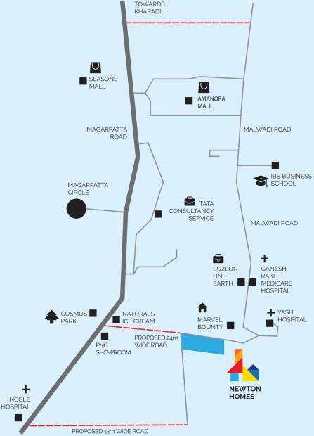 Images for Location Plan of Ravima Newton Homes Hadapsar Phase 1