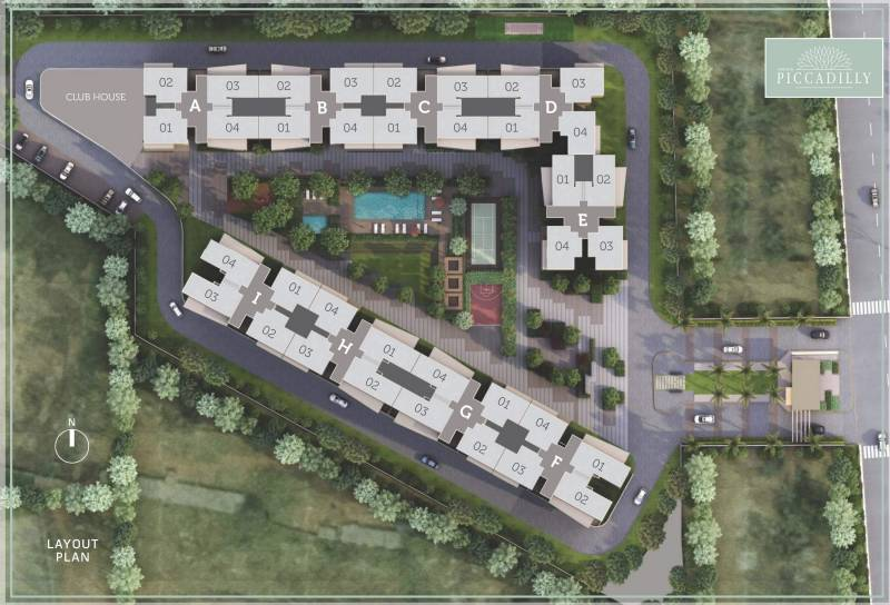 Images for Layout Plan of Goyal Orchid Piccadilly