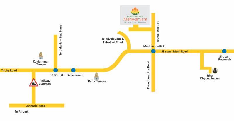 Images for Location Plan of Paripoorna Aishwaryam Phase 1