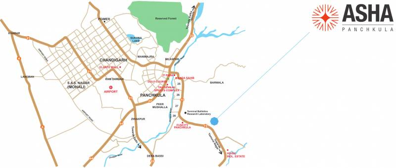 Images for Location Plan of Essel Asha Panchkula By Zee Phase 2