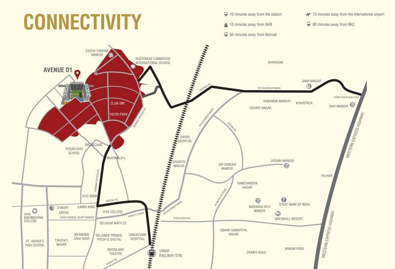 Images for Location Plan of Rustomjee Global City Virar Avenue D1