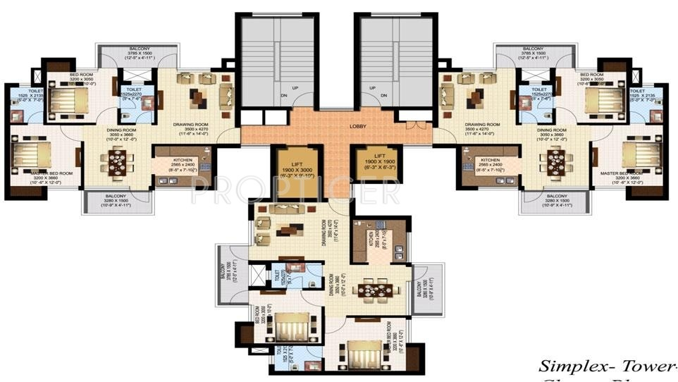 2312 sq ft 4 bhk 4t apartment for sale in sidharatha group for Apartment cluster plans
