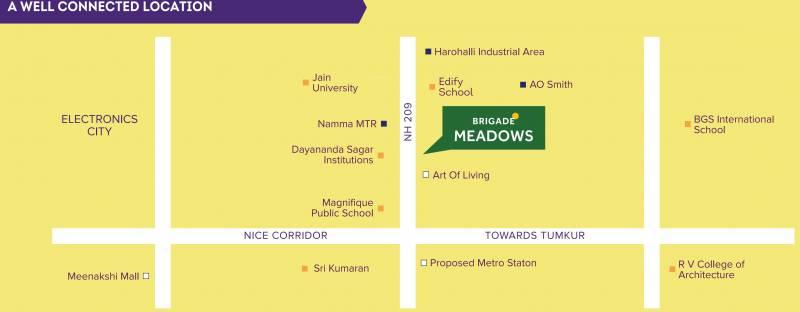 Images for Location Plan of Brigade Plumeria Lifestyle At Brigade Meadows