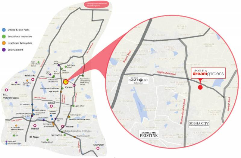 Images for Location Plan of Sobha Dream Gardens