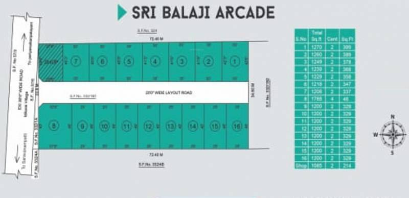 Images for Layout Plan of Sri balaji Arcade