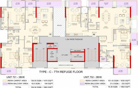 2 3 Bhk Cluster Plan Image Adani Group Atelier Greens For Sale At Mundhwa Pune Proptiger Com